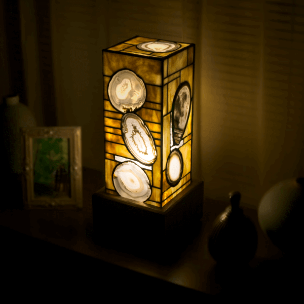 Natural agate lamp for sale