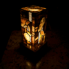 natural agate lamp 1958 for sale