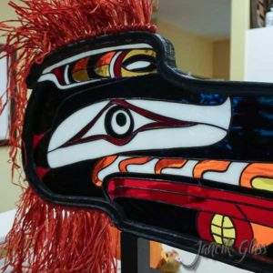 Stained glass raven mask