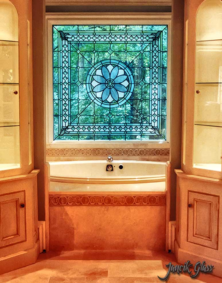 Residential beveled glass window