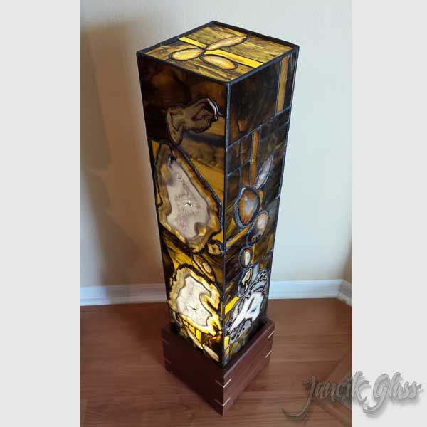 Superb Top View Of Tall Agate Lamp