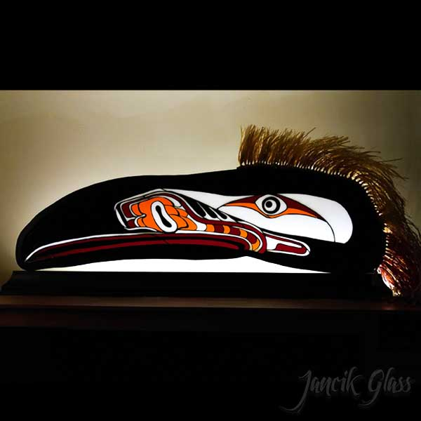Ceremonial Stained Glass Raven Mask