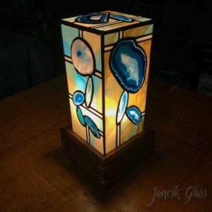 Teal agate lamp 2020b