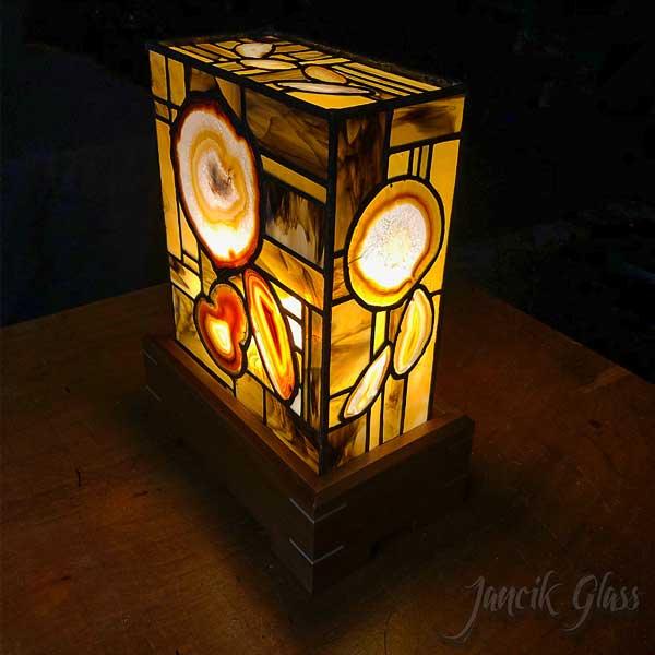 Natural agate lamp 2022b