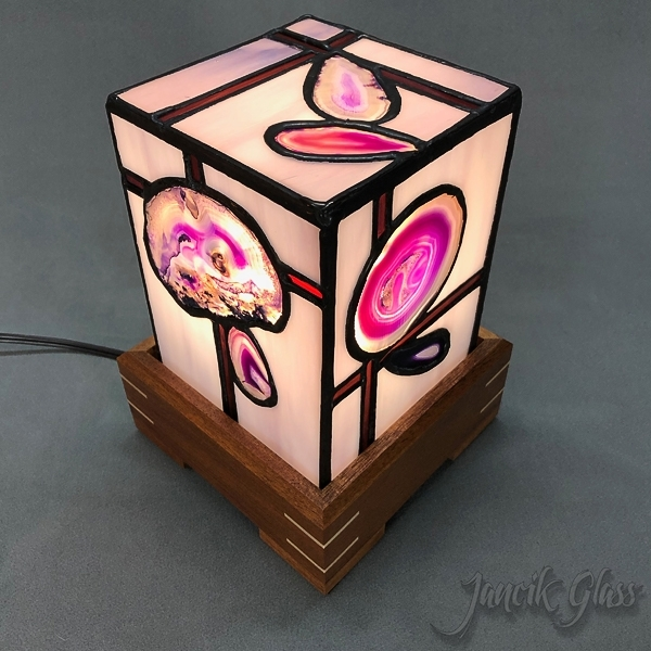 Colored agate lamp 2035c