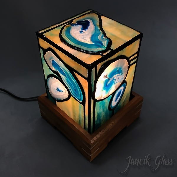 Colored agate lamp 2024